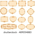 vector of vintage frame set on... | Shutterstock .eps vector #489054883