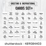 greeting and inspirational... | Shutterstock . vector #489084403