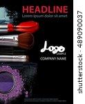 beauty makeup and cosmetics... | Shutterstock . vector #489090037
