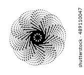 black abstract fractal  spiral  ... | Shutterstock .eps vector #489110047