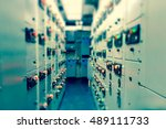 vintage and blur tone of... | Shutterstock . vector #489111733
