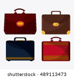 bags of baggage and luggage... | Shutterstock .eps vector #489113473