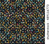 confetti seamless pattern with... | Shutterstock .eps vector #489116773