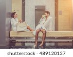 loving couple have fun at the...   Shutterstock . vector #489120127