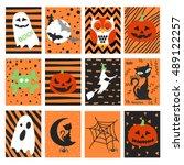 halloween set | Shutterstock .eps vector #489122257