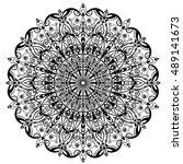 mandala. round ornament.vintage ... | Shutterstock .eps vector #489141673