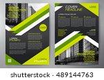business brochure flyer design... | Shutterstock .eps vector #489144763