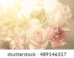 beautiful flowers bouquet of... | Shutterstock . vector #489146317