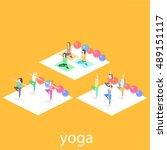 isometric interior of yoga... | Shutterstock .eps vector #489151117