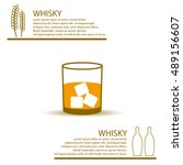 whisky glass simple color info... | Shutterstock .eps vector #489156607