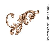 vintage baroque element... | Shutterstock .eps vector #489157003