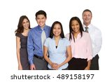 multi ethnic group of business... | Shutterstock . vector #489158197