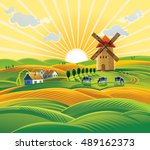 Rural Landscape With A Windmil...