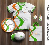 white promotional souvenirs... | Shutterstock .eps vector #489204967
