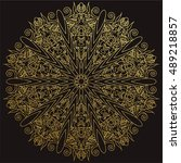 Decorative Mandala. Gold Vecto...