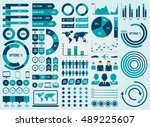 mega pack and set infographic... | Shutterstock .eps vector #489225607