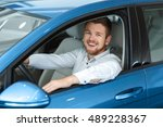 driving is his passion. happy...   Shutterstock . vector #489228367