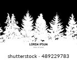 seamless background forest with ... | Shutterstock .eps vector #489229783