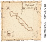 musha cay old pirate map. sepia ... | Shutterstock .eps vector #489237913