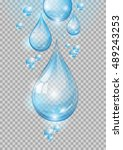 water. transparent water drops. ...   Shutterstock .eps vector #489243253