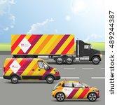 color transport advertising... | Shutterstock .eps vector #489244387