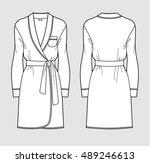 silk bathrobe for women.... | Shutterstock .eps vector #489246613