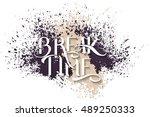 handmade calligraphy  vector... | Shutterstock .eps vector #489250333