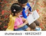 kids education knowledge study... | Shutterstock . vector #489252457