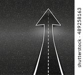 direction of the way. asphalt... | Shutterstock . vector #489258163