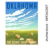 oklahoma  united states retro... | Shutterstock .eps vector #489261007