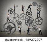 teamwork of businesspeople | Shutterstock . vector #489272707