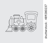 line toy train vector...