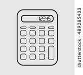calculator vector icon in line...