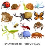 different kinds of bugs... | Shutterstock .eps vector #489294103