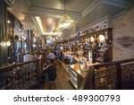 original english pub   horniman ... | Shutterstock . vector #489300793