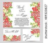 vintage delicate invitation... | Shutterstock . vector #489323827