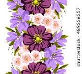abstract elegance seamless... | Shutterstock . vector #489326257