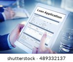 loan application financial help ... | Shutterstock . vector #489332137