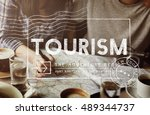 travel holiday wanderlust trip...   Shutterstock . vector #489344737