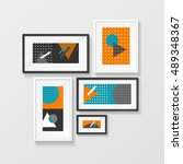 modern picture frame interior... | Shutterstock .eps vector #489348367