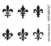collection of fleur de lis... | Shutterstock .eps vector #489388567
