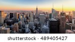 new york city. manhattan... | Shutterstock . vector #489405427