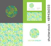 vector abstract emblem  ... | Shutterstock .eps vector #489436033