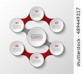infographics template. metaball ... | Shutterstock .eps vector #489449317