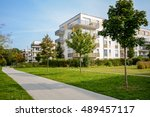 new apartment building   modern ... | Shutterstock . vector #489457117