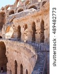ancient ruins  walls and arches ... | Shutterstock . vector #489482773