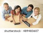 upper view of start up business ...   Shutterstock . vector #489483607