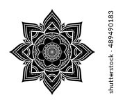 black hand drawn decorative... | Shutterstock .eps vector #489490183