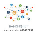 banking mechanism. abstract... | Shutterstock .eps vector #489492757