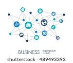 business mechanism concept.... | Shutterstock .eps vector #489493393